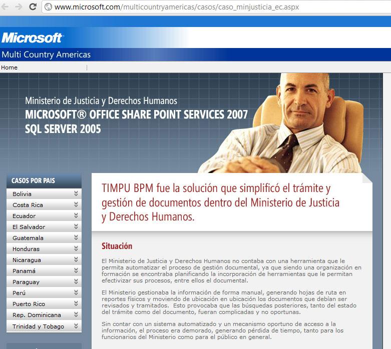 Caso de éxito Microsoft